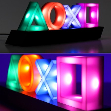 playstation icons buttons led sign