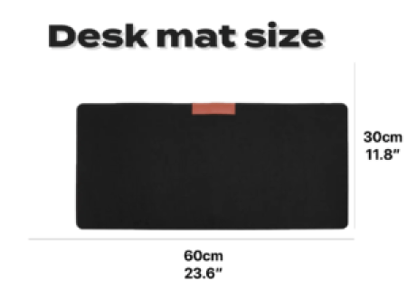 grey desk mat with leather