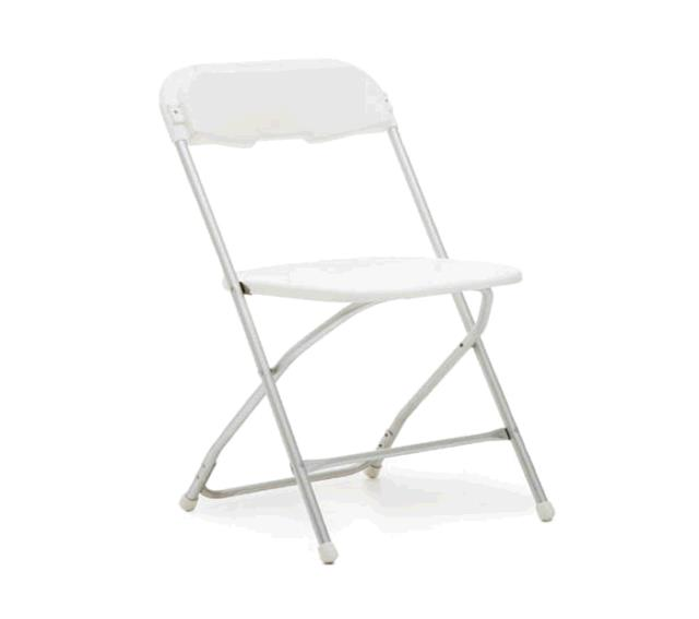 folding chair rental vancouver outdoor hanging lounge white alloyfold rentals portland or where to rent find in