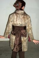 Back of Steampunk kimono and cincher with sash. Photo by Tim Smith.