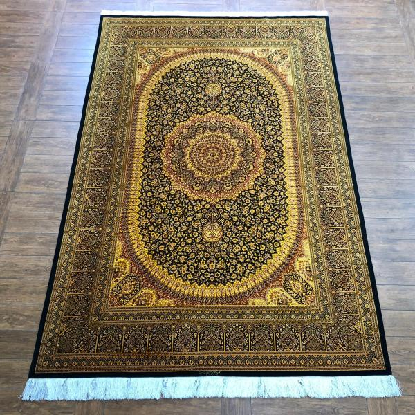 Gold Persian Silk Carpet