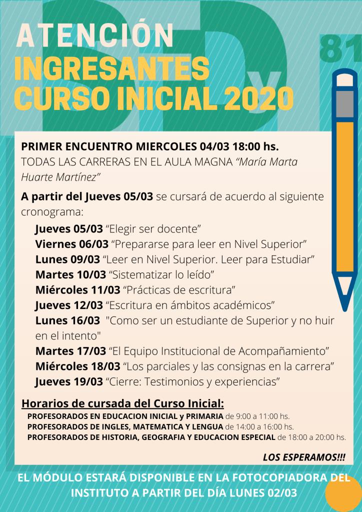 CURSO INICIAL 2020