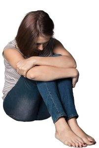 En kvinde der slås med lavt selvværd bruger Fa