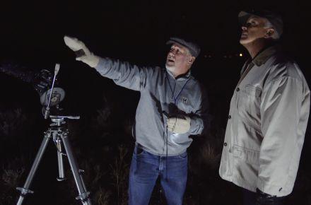 Danny and Del at night