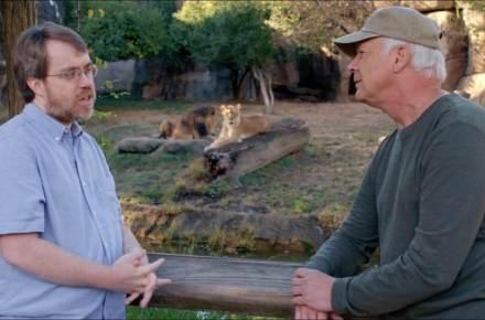 Todd Woods and Del Tackett at the Memphis Zoo