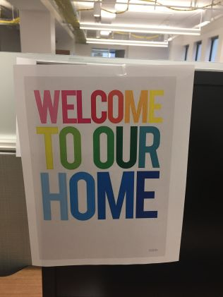 "ISGMH sign that reads ""Welcome to Our Home!"""