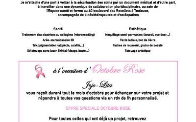 JOJO-LITA, Tatoueuse au service de la santé et de l'esthétique – Offre spéciale Octobre Rose 2020