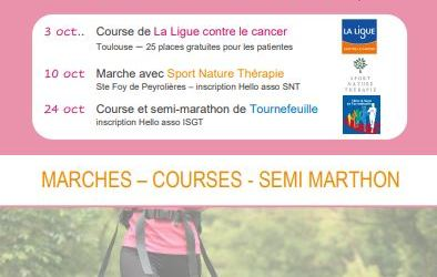 OCTOBRE ROSE avec l'ISGT – Programme Marche/course 2021