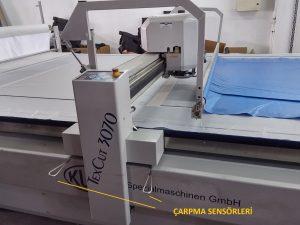 Resim 6: Kesim makinası ve çarpma sensörleri