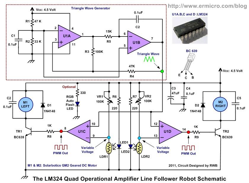 Line Follower Without Microcontroller · Ishank Gulati