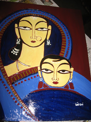 Mother and Child Jamini Roy's work 1