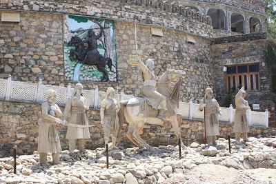 Chetak horse statues