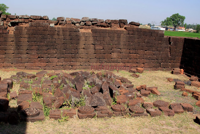 Ruins scattered around Gokulchand Temple