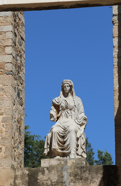 Roman Theater Merida Spain, statue of Livia.