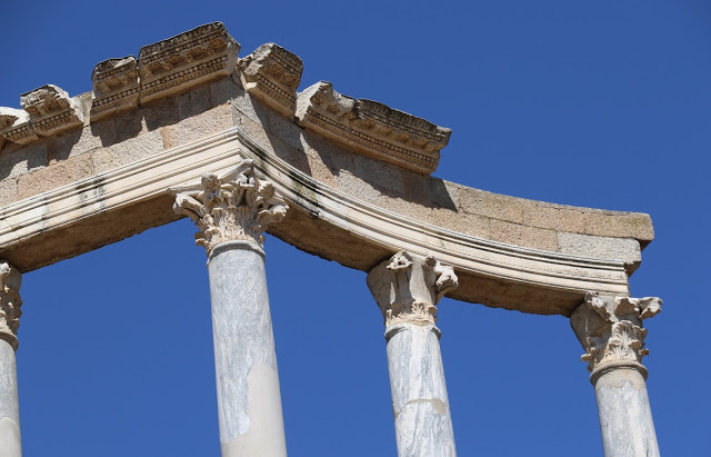 Roman Theater Merida Spain - Columns
