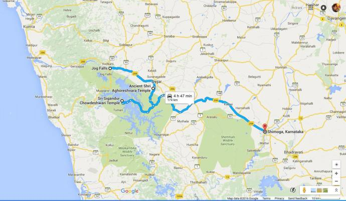 Jog falls to Shimoga road trip
