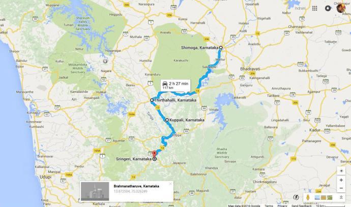 Shimoga to Sringeri road trip