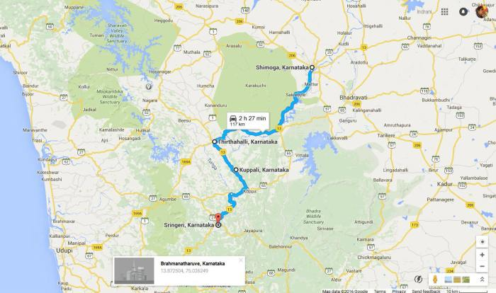 Shimoga to Sringeri road trip
