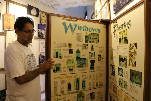 Houses of Goa Museum windows