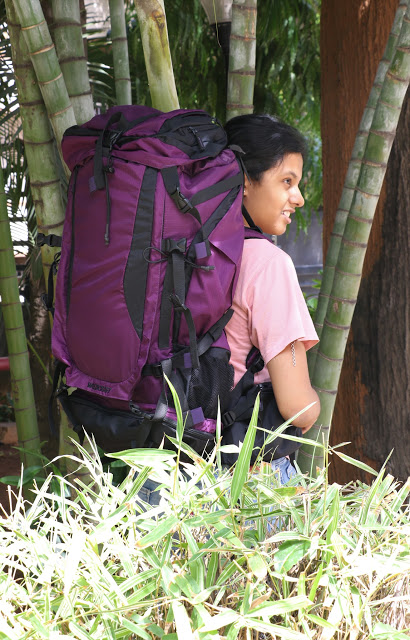 Outdoors with Backpack