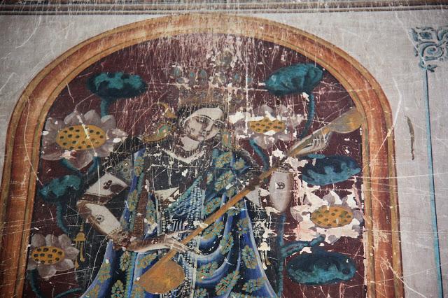 Paintings on Walls of Brindavan Chandra Temple