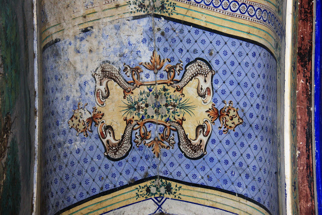 Paintings on ceilings of Brindavan Chandra Temple