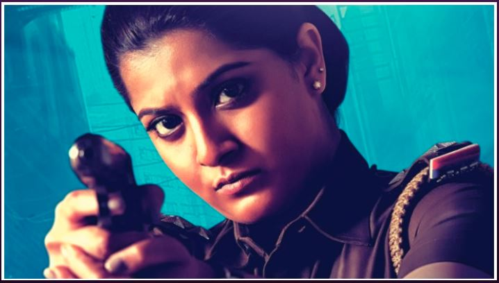 Varalaxmi Sarathkumar as gritty cop in the movie Danny