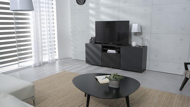 テレビの転倒防止に耐震マットを使おう。