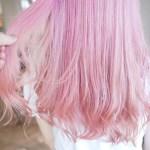 ダメージレスで綺麗な仕上がりに!トリートメントカラーで染める薄ピンクカラー