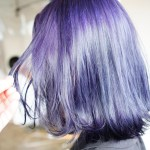 毛先のブリーチ無しで理想の髪色に!脱染剤を使って染めるハイトーンのブルーパープルカラー