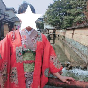 金沢の着物レンタル彩雅から長町武家屋敷を散策中のサティー
