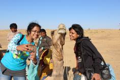 ...To selfies in Desert