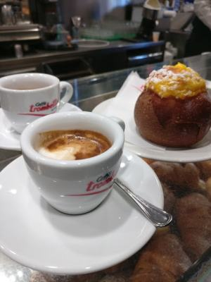 Caffe` Trombetta is a great place to have coffee and pastries near Termini Rome