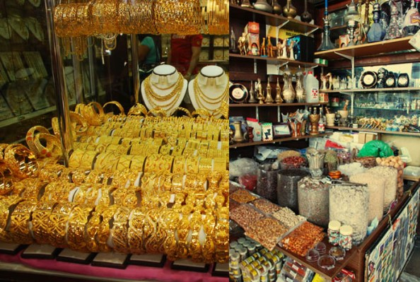 Gold Shop (left) and Spice Shop (Right)