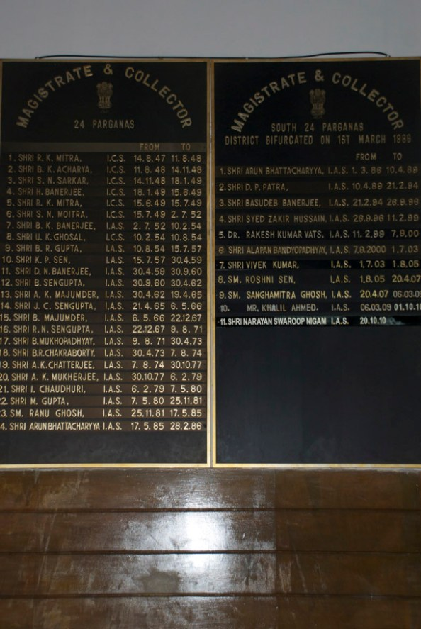 The names of all the Magistrates of South 24-Parganas