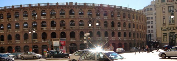 The bullring in Valencia, next to the train station in the centre of the city!
