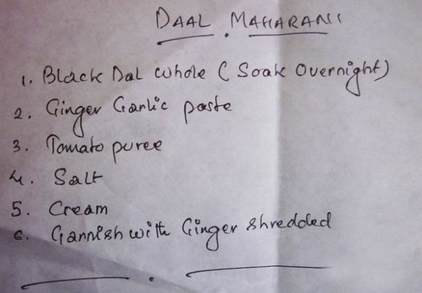 The Recipe of Daal Maharani - How much? What's the method?