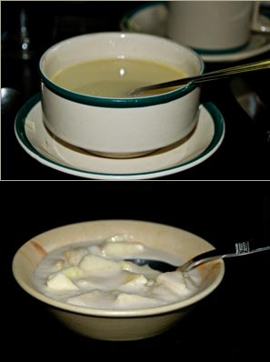 Clear Soup and Dessert - Apple & Yoghurt