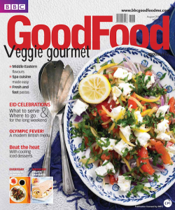 BBC GoodFood Middle East, August 2012