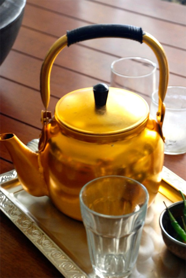 Traditional tea kettle or the *kettly*