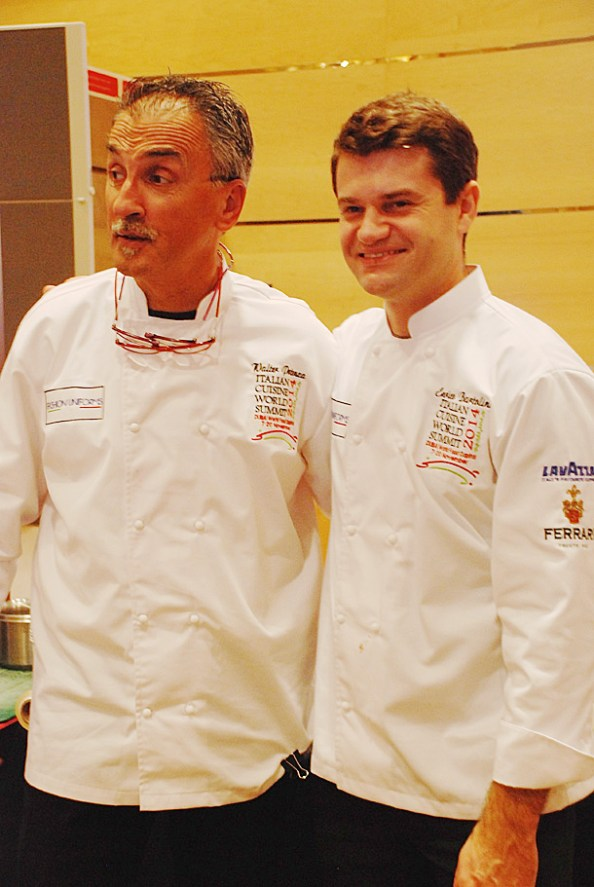 Chef Walter Potenza and Chef Enrico Bertolini