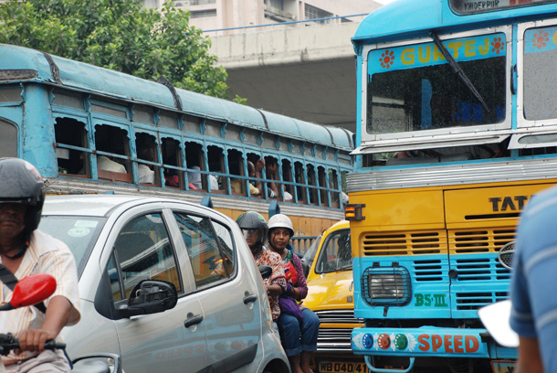 Traffic in Kolkata