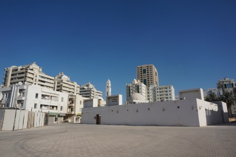 The surrounding highrises would eventually be demolished and structures reflecting the old architecture of SHarjah would be rebuilt