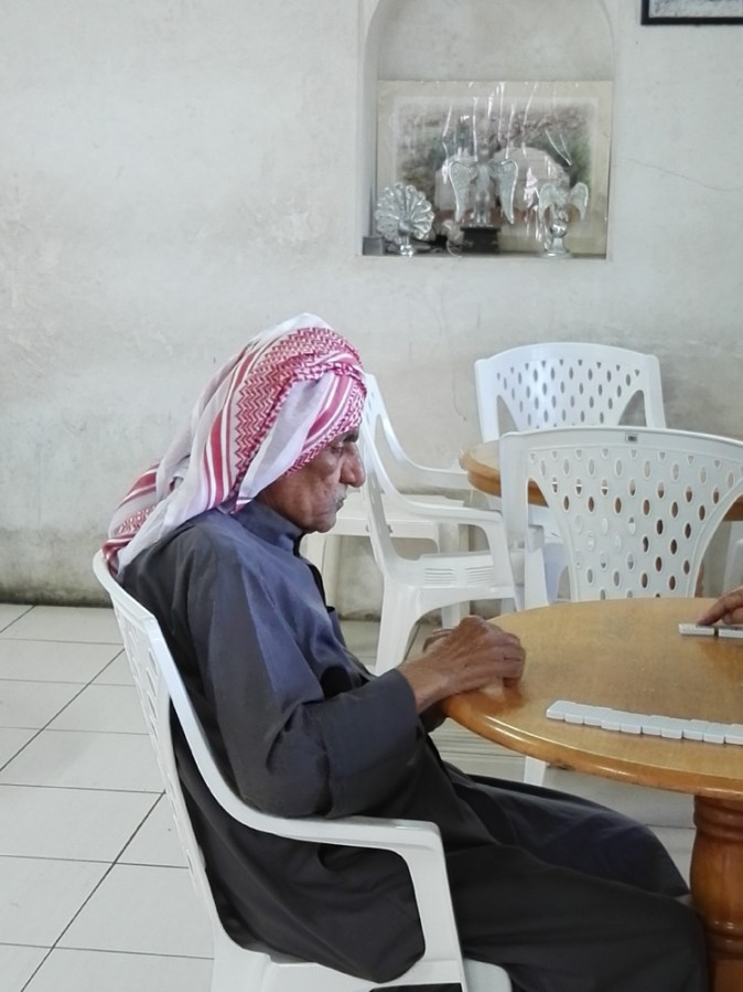 In Majlis al Shaabi, the traditional majlis for the elderly,, patience is a virtue at the Dominos table!