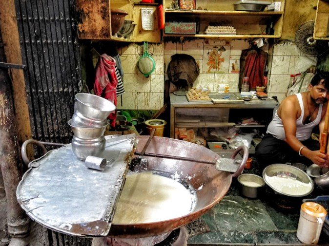 Presenting Kolkata's street food by presenting Sharma's in Dacres Lane with BBC Travel Show UK