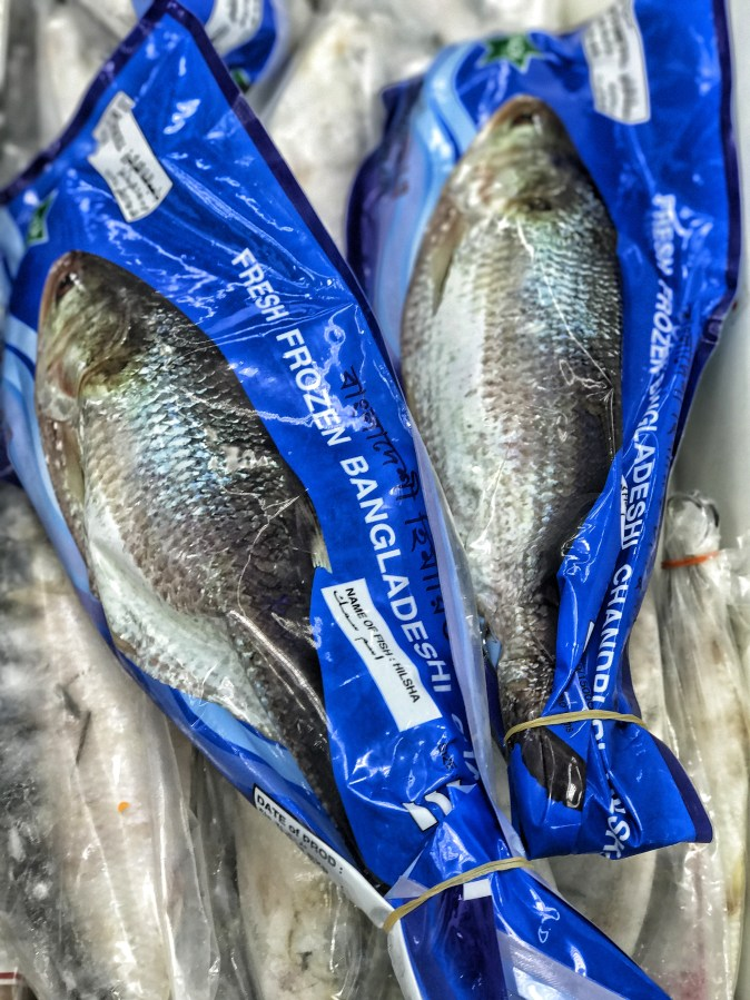 Frozen Hilsa available in Backet Supermarket in Sharjah