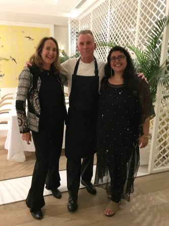 Chef Gary Rhodes in his signature restaurant Rhodes W1 in Grosvenor House