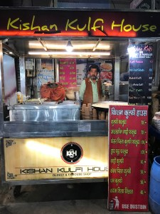 Kishan Kulfi House in Chaat Gali in Agra
