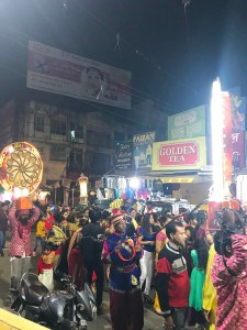 A traditional wedding baraat on the streets of Lucknow