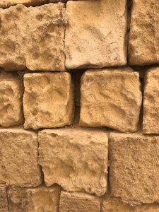 Golden limestone used to build ancient Maltese houses